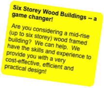 Six Storey Wood Buildings -- a game changer!